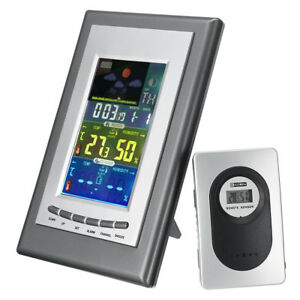 Lcd Weather Station Temperature Sensor Clock Electronic Thermometer Hu