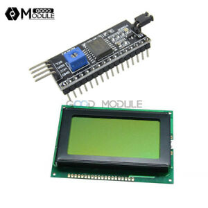 5v 12864 Lcd Display 128x64 Yellow Green 1602lcd Iic i2c spi Serial For Arduino