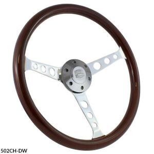 15 Chevrolet Wood Slotted Steering Wheel Set W Adapter