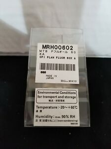 Nikon Cfi Plan Fluor 60x 0 85 Na Microscope Objective With Correction Collar