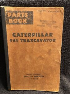 Caterpillar 941 Track Loader Parts Book 80h1 To 80h3039 Ue07113 Nov 1976