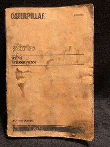 Caterpillar 977k Track Loader Parts Book 11k1 To 11k3918 last Built May 1977