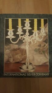 Candelabra Silverplated 5 Candle Tree 8 Tall X 9 By International Silver Co
