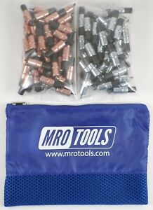 50 1 8 50 3 32 Extra Short Cleco Fasteners W Mesh Carry Bag kk3s100 3