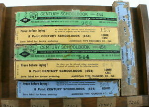 Atf New old stock 08 Pt Century Schoolbook In Wraps Two 2 Fonts