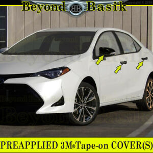 For 2014 2018 Corolla Gloss Black Door Handle Covers No Psk mirror Covers W tsh