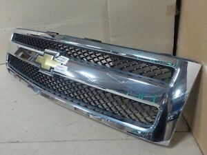 Oem Front Grill W Mesh Emblem Chevy Silverado 1500 2007 2012 Grille ju1503