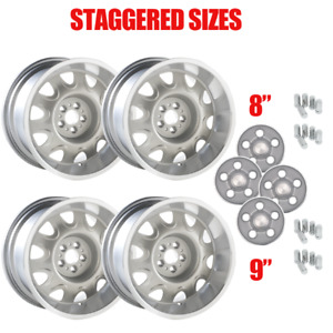 Yearone Mopar Rallye Wheel Kit With Light Argent Center Caps And Lug Nuts i