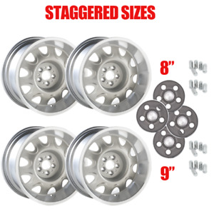 Yearone Mopar Rallye Wheel Kit With Dark Argent Center Caps And Lug Nuts in