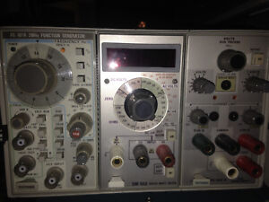 Tektronix Tm503 3 Slot Mainframe With Modules F 501a Dm 502 And Ps 503 A