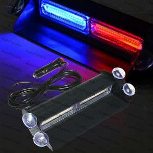 Cob Red Blue Light Emergency Car Vehicle Warn Strobe Flash
