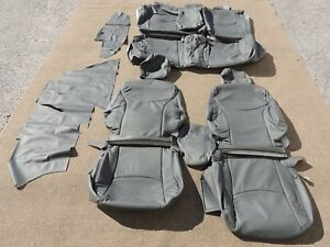 Leather Seat Covers Interior Upholstery Fits Toyota Prius 2012 2013 Grey J116