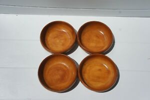 Antique Munising Wooden Salad Bowls Set Of 4 Early 1900 S