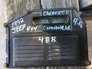 1992 92 Jeep Comanche Cherokee 4 0l At 4x4 Ecm Ecu Computer Pcm 56027488 488