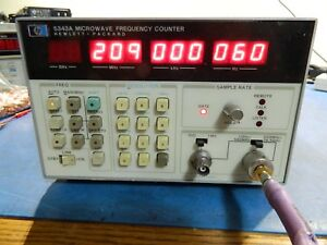 Hp agilent 5343a Frequency Counter Opts 001 011