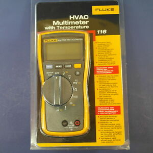 Brand New Fluke 116 Hvac Multimeter With Temperature