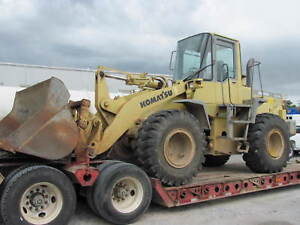 2000 Komatsu Wa250 Wheel Loader Has Quick Connect Bucket And Forks As Shown