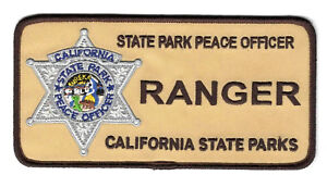 California State Parks Ranger Tactical TAN patch large 6quot; x 3quot; $10.99