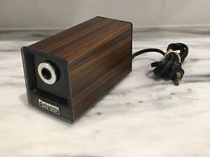 Vintage Panasonic Auto stop Electric Pencil Sharpener Model Kp 77s Japan Wood