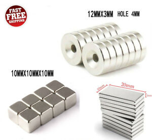 100pcs N52 N50 N35 Super Strong Countersunk Ring Magnets Rare Earth Neodymium Us