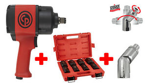 Chicago Pneumatic Cp7763 3 4 Air Impact Wrench With Socket Set And Air Flex