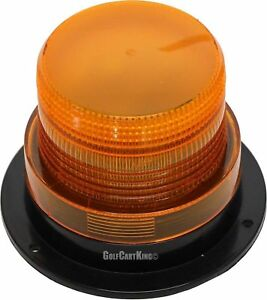 Universal Golf Cart 12 Volt Led Amber Strobe Light Safety warning flasher