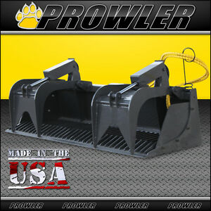 84 Heavy Duty Rock Grapple Bucket Attachment For Skid Steer Loaders