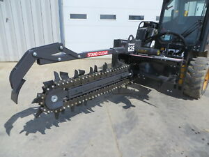 Bradco 625 48 X 6 Skid Steer Loader Trencher Attachment 14 22gpm