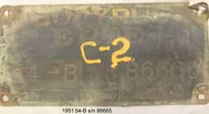 Bucyrus Erie Crawler Crane Serial Number Plates Signs
