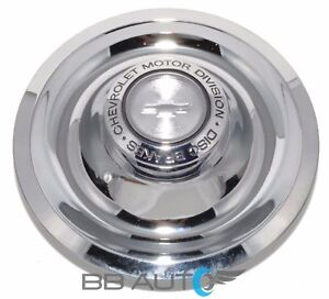 Chevy Camaro Corvette Chevelle Rally Wheel Chrome Disk Brakes Flat Center Cap