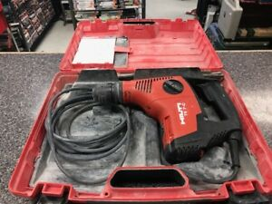 Hilti Te7 c Rotary Hammer Drill In Hard Case With 8 Bits Ships Free