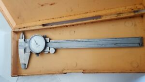 Vintage Mitutoyo 6 Dial Caliper 505 626 001 W Case