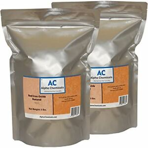 Red Iron Oxide Fe2o3 Natural 10 Pounds 2 5 Lb Bags