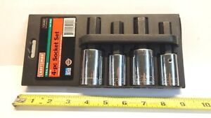 Craftsman 4 pc Hex Socket Set 9 34482 Usa Made 1 2 Metric And Standard In Case