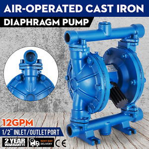 Air operated Double Diaphragm Pump 1 2inch Outlet Low Viscosity Petroleum Fluids