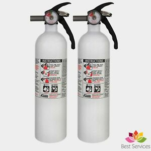 2 Marine Kiddie Fire Extinguisher Dry Chemical Car Boat Auto Garage Mount 10 b c