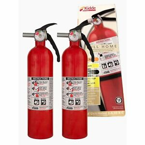 2 5 Lb Home Abc Fire Extinguisher Car Dry Chemical Electrical Kitchen Auto 2 pk