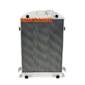 4row Core Aluminum Radiator For Ford Model A Series Flathead Engine V8 1935 1936