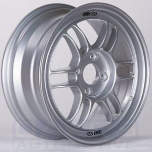 Enkei Rpf1 Wheel 16x7 43mm 4x108 Single Silver Rim For Fiesta St
