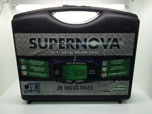 Brand New Jb Industries Dv 41 Supernova Digital Micron Gauge With Case And Ac A