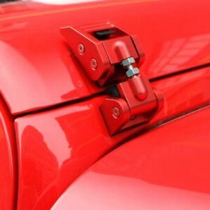 Aluminum Hood Catch Latches Kit For 2007 2017 Jeep Wrangler Jk Unlimited Red