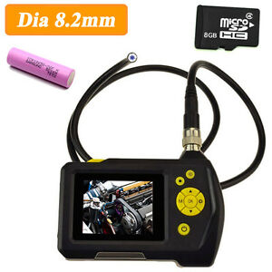 Led Endoscope Pipe Tube Borescope Video Inspection Camera Zoom 8gb Card batteryd