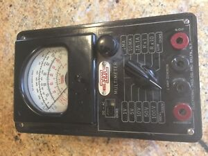 Vintage Eico Multimeter With Ac dc Ohms Adjustment Model 536