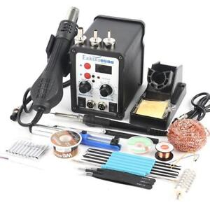 Smd Rework Soldering Station Iron Hot Air Gun Welder Solder 220v 110v 700w Power