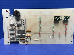 Thermco 140170 001 Operator Panel Pcb Assembly Used
