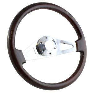 15 Dark Wood Steering Wheel