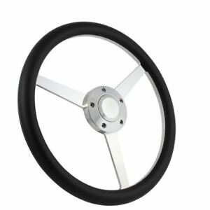 14 3 Spoke Polished Steering Wheel Ford Chevy Muscle C10 Half Wrap Hot Rod Gmc