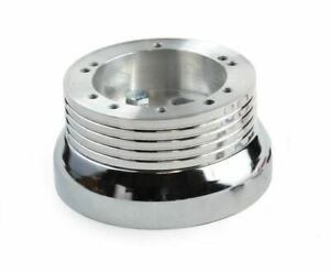 5 6 Hole Steering Wheel Polished Hub Adapter Chevy Gmc Pontiac And More