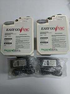 2 Precision Medical Easygo Vac Aspirator Model Pm65hg W 2 Power Adapters