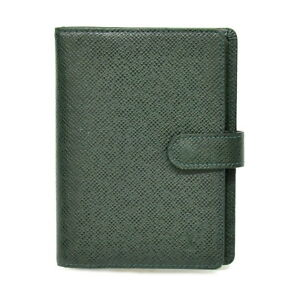 Authentic Louis Vuitton Taiga Leather Day Planner Card Case Agenda Pm Green Lv
